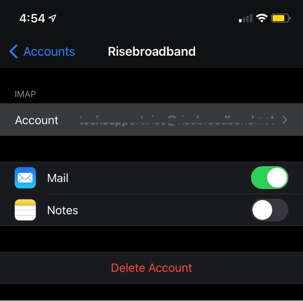 iPhone Account Dashboard